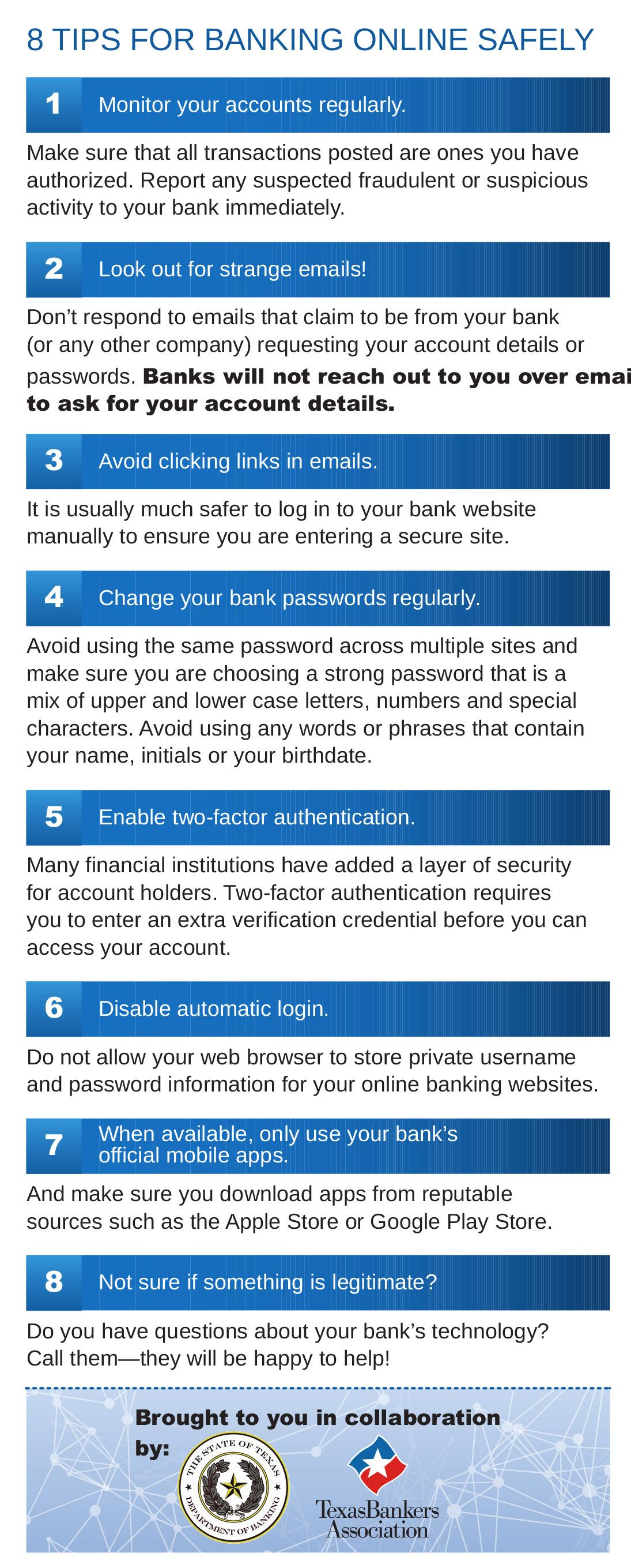 8 tips for banking online safely