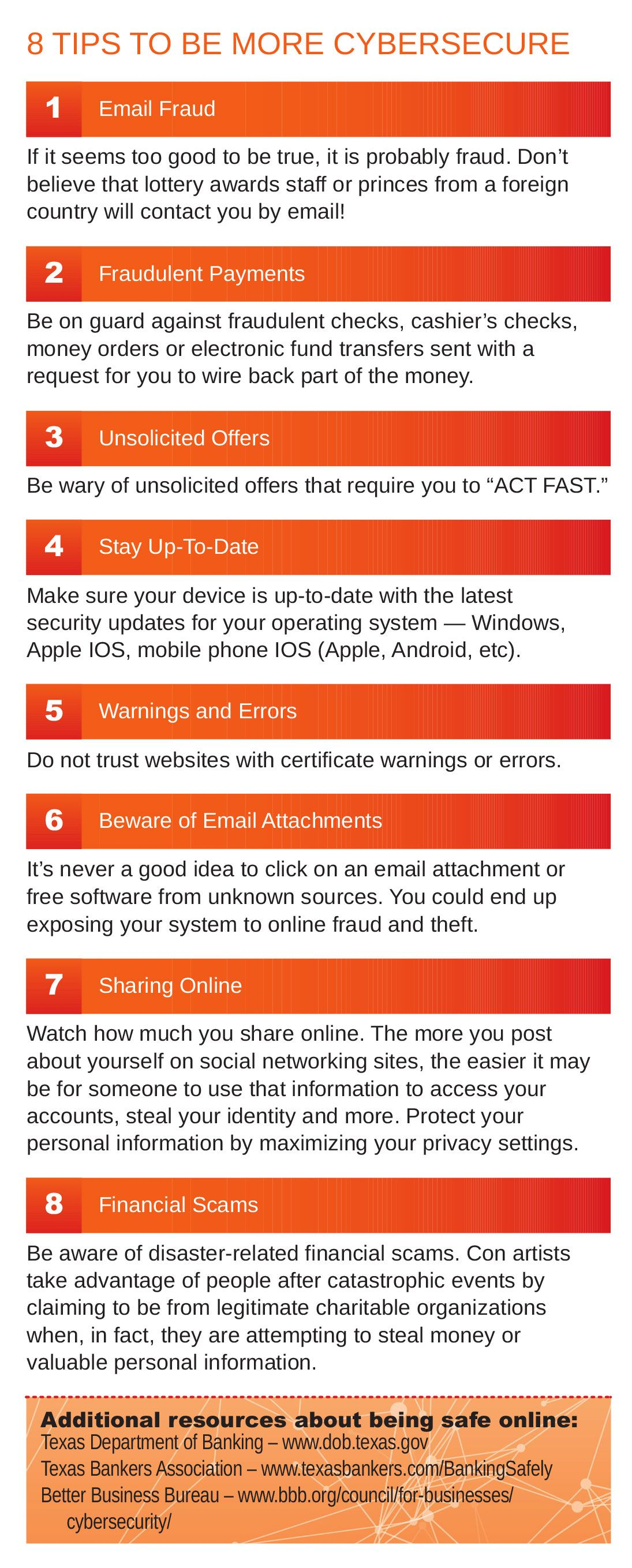 8 Tips to be more cybersecure